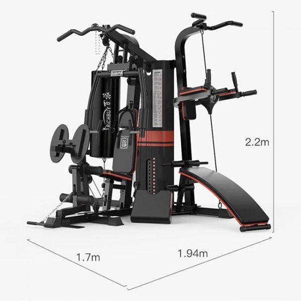 Kích thước bộ máy tập gym BP-806