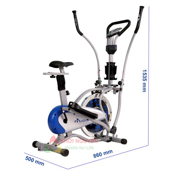 Kích thước xe đạp tập toàn thân MO-2085